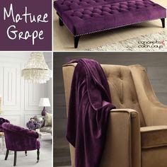 sherwin williams mature grape, 2017 color trends, grape purple used in interior design Interior Design Inspiration, Color Inspiration, Grape Color, Purple Chair, Purple Rooms, Purple Interior, Minimalist Home Decor, Home Decor Accessories, Color Trends