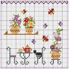 Igolkin Area / The Needle Nook: Lo schema della casa / I Patterns Casa Tiny Cross Stitch, Cross Stitch House, Cross Stitch Kitchen, Cross Stitch Cards, Cross Stitch Borders, Cross Stitch Samplers, Cross Stitch Flowers, Cross Stitch Designs, Cross Stitching