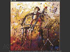 CELLIST - Music Art, Cello, Expressionism