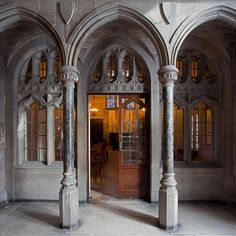 Hilton Chapel Entrance, Chicago Theological Seminary.  I used to go here to meditate between classes at University of Chicago.