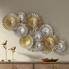 """Amazon.com: Newhill Designs Sparks 45"""" Wide Gold and Silver Metal Wall Art: Home & Kitchen Modern Metal Wall Art, Metal Wall Art Decor, Metal Tree Wall Art, Metal Wall Sculpture, Diy Wall Art, Silver Wall Decor, Metal Art, Gold Metal Wall Art, Metallic Decor"""