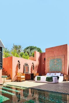 Our favourite travel pictures of Morocco including pretty riads, swimming pools and arched windows, desert landscapes and views from the rooftops of Morocco's kasbahs, all photographed exclusively for Condé Nast Traveller Beautiful Hotels, Beautiful Places, Beautiful Beautiful, Riad Marrakech, Gazebos, Moroccan Interiors, Arched Windows, Backyard, Patio