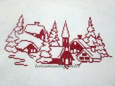 Cross Stitching, Cross Stitch Embroidery, Hand Embroidery, Cross Stitch Patterns, Crochet Pumpkin Pattern, Crochet Angel Pattern, Filet Crochet Charts, Cross Stitch Landscape, Cross Stitch Tree