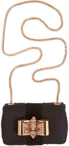 CHRISTIAN LOUBOUTIN Python Mini Sweet Charity Bag...