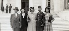 Desmond Doss with his wife Dorothy and friends