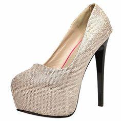 QIYUN.Z Frauen Hohe Stiletto-Absatz Wasserdichte Einzelne Schuhe Pumpe Artschuh Twinkling - http://on-line-kaufen.de/qiyun-z/qiyun-z-frauen-hohe-stiletto-absatz-wasserdichte