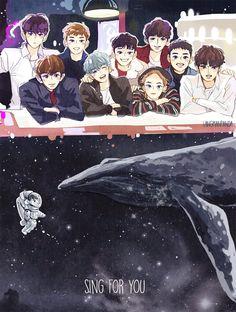 54 Ideas for wallpaper kpop exo beautiful Chibi, Exo Art, Exo Fan Art, Exo Chibi Fanart, Art, Anime, Cartoon, Exo Anime, Fan Art