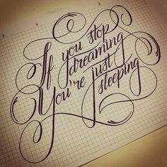 Meu lettering feito na aula de Brush Script com o grande Caetano Calomino!