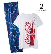 2 piece set from Avon Coca-Cola Unisex PJ set Always Coca Cola, World Of Coca Cola, Avon Fashion, Last Minute Christmas Gifts, Elastic Waist Pants, Unisex, Pepsi, Shop My, How To Wear