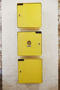 Google Umbono, Metal Lockers, Designed by Haldane Martin, Photo Micky Hoyle