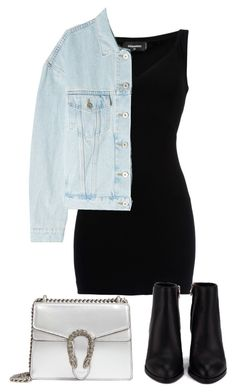 """#198"" by mintgreenb on Polyvore featuring Dsquared2, Yeezy by Kanye West, Alexander Wang and Gucci"