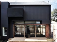 Architecture, Charming Modern Black Design Architecture Ideas Of Black House With Combined With Glass Window Facade And Brick Tile Wall Showing Bright Color Interior In The Dark Exterior: Black Home Design with Its Advantages and Color Combination Design Exterior, Black Exterior, Home Design Decor, House Design, Architecture Résidentielle, Recycled Brick, Melbourne House, Visit Melbourne, Design Case