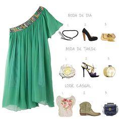 Me encanta el vestido verde...