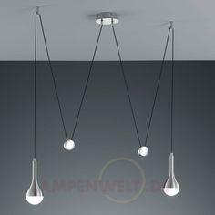 Unique H henverstellbare LED Pendelleuchte Drop
