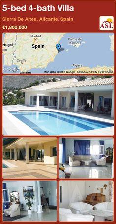 5-bed 4-bath Villa in Sierra De Altea, Alicante, Spain ►€1,800,000 #PropertyForSaleInSpain