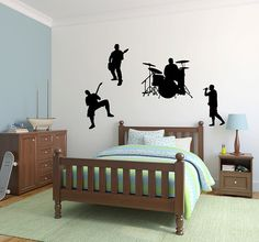 Band Guitar Drum Set Vinyl Wall Decal by LuckyLabradorsDecals, $39.99