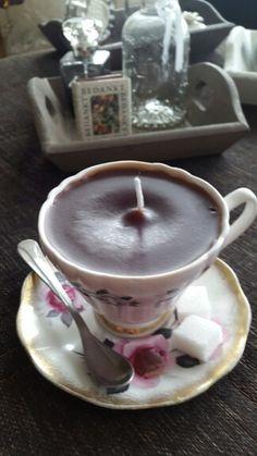 Kopje koffie kaars