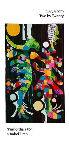 """Primordials #6"" - art quilt by Rahel Elran"