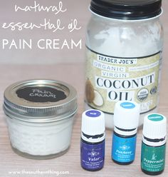 How to make your own natural essential oil pain relief cream using Young Living essential oils.