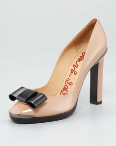Lanvin Pink BowToe Patent Leather Pump