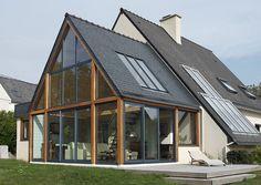 Home Design Idea 2017 - Best Free Home Design Idea & Inspiration Extension Veranda, Conservatory Extension, Rear Extension, Garage Design, House Design, Brest, Roof Light, My Dream Home, House Tours