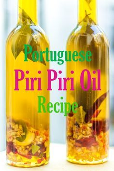 Piri Piri Oil is one of the most important and significant contributions that the Portuguese made to Culinary world and this recipe makes sure your food gets an extra fiery and flavoury kick. A staple… Piri Piri, Flavored Oils, Infused Oils, Sauce Recipes, Cooking Recipes, Peri Peri Sauce, Salsa Bechamel, Portuguese Recipes, Portuguese Food