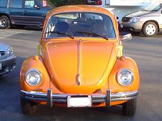 Brilliant Orange 1973 Volkswagen Beetle (L20B) Mutley is this colour.
