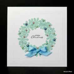 Beccy's Place: Tutorial: Wreath Card
