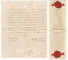 A letter written by Marie Antoinette to her brother-in-law, the King of Naples, on January 19th, 1775, after the birth of her sister Maria Carolina's first son.    I learned with great pleasure the happy news of the prince which [my sister] gave birth … I beg to believe that I will always be very glad to have frequent occasion to pleasantly cry, [and to] renew the assurances of my affection.