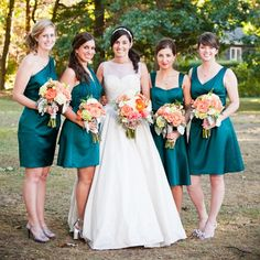 Long Turquoise/Mint/Aqua Bridesmaid Dresses | Colorful Turquoise ...