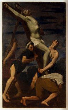 Bernardino Gagliardi - innalzamento della croce