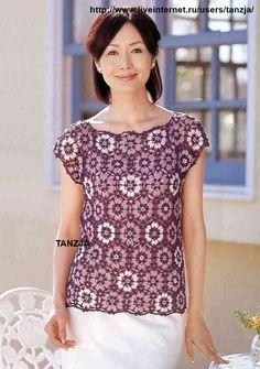 Crochet tejidos: BLUSAS