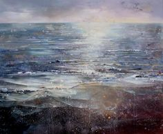 Lorna Holdcroft ~ Recent Paintings: Calm Sea - Acrylic on canvas 120 x 100cm