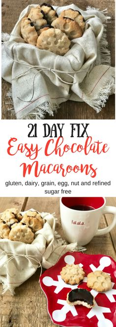 21 Day Fix Easy Chocolate Macaroons (Allergy Friendly) - Confessions of a Fit Fo. - 21 Day Fix Easy Chocolate Macaroons (Allergy Friendly) – Confessions of a Fit Foodie - 21 Day Fix Desserts, Healthy Desserts, Healthy Treats, Healthy Foods, Healthy Recipes, Vegan Sweets, Healthy Habits, Free Recipes, 21 Day Fix Diet