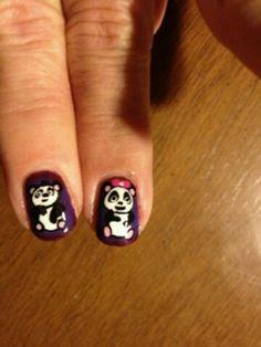 Pandas Nails, Beauty, Pandas, Finger Nails, Ongles, Beauty Illustration, Nail, Nail Manicure