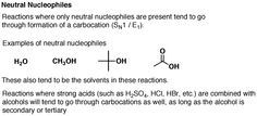 What types of bases/nucleophiles will undergo Sn2 reactions vs Sn1 reactions?