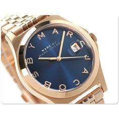 Elegantly calm -->Marc Jacobs Women's Watch ROSE GOLD Bracelet & Blue Dial HENRY /Box MBM3316 #MarcJacobs #Dress #Fashion #Navy Blue $129.77