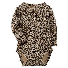 Carters Baby Girls Bodysuit  Animal print 24 Months