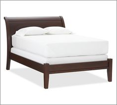 Really like this bed! Maybe in black..I have the idea of a plum/gray/black/white master bedroom
