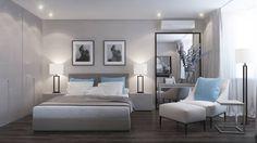 Camera da letto in stile in stile Moderno di Elena Potemkina