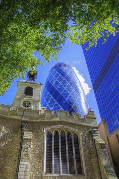 St Helen's Church & The Gherkin, London