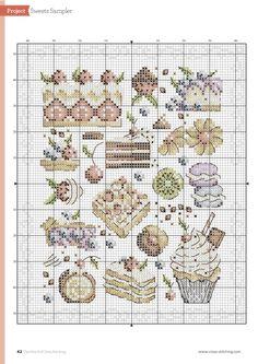 ru / Фото - The world of cross stitching 245 - tymannost Cross Stitching, Cross Stitch Embroidery, Embroidery Patterns, Cross Stitch Designs, Cross Stitch Patterns, Stitch Cake, Cross Stitch Kitchen, Cross Stitch Boards, Crochet Squares