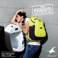 Crash anywhere on campus with a #Passouts backpack! http://fastrack.in/products/bags/sku-a0612ngr01/