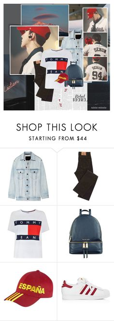 """""""Keep life wanderlust.."""" by rainie-minnie ❤ liked on Polyvore featuring Alexander Wang, Tommy Hilfiger, Michael Kors, adidas and Damaris"""