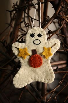 ghost with pumpkin and stars garland ornament  autumn halloween seasonal home decor