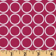 Metro+Living+Circles+Fuchsia from @fabricdotcom  Designed+for+Robert+Kaufman+Fine+Fabrics,+colors+include+pink+and+white.+Use+for+quilting,+crafts,+apparel+and+home+décor+accents.