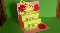 How To Make A Greeting Pop Up Card For Mom| Birthday Mother's Day  Step by step tutorial how to make easy and cute handmade pop up card for mom, granny for all occasions be it Birthday Greeting, Mother's Day, Anniversary Greeting, Grandmother's Day and etc. This latest desing card  is perfect as a gift for mum, granny, sister, teacher, aunt and immediately makes an impression. In this video you'll learn how to make cute #paperflowers from hearts to decorate #handmadecrafts.