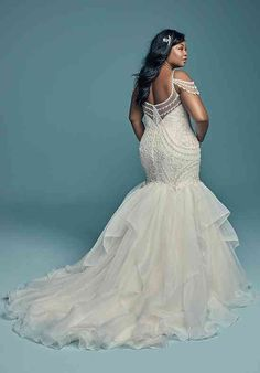 Luxury Wedding Dress, Lace Mermaid Wedding Dress, Mermaid Dresses, Dream Wedding Dresses, Bridal Dresses, Full Figure Wedding Dress, Dress Lace, Little Mermaid Wedding, Tunic Dresses