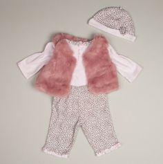 NB Sweet Leopard 4pc Vest Set - Little Me Baby Sets - Events
