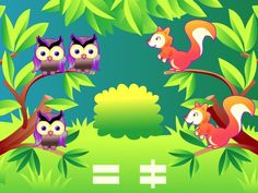 Wee Kids Math  #math #kids #app #colorful #owl #squirrel #ipad #kid #preschool #country #arithmetics #math #equal #different #counting  #ipad #iphone #android #iOS #Windows